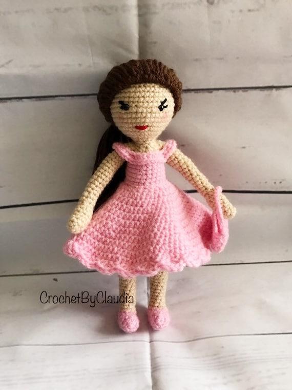 Crochet Mia Puppeamigurumi Puppe Häkeln Puppe Spielzeug Etsy