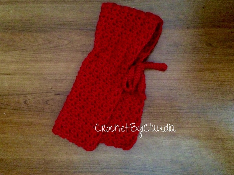 Crochet Little Red Ridding Hood and Big Bad Wolf BonnetCrochet BonnetMade to Order