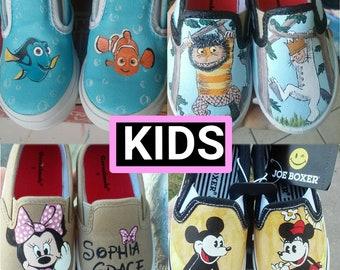 16ed6712765bbd VANS Custom Painted Shoes  Simple Design