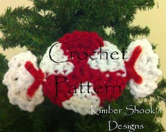 Christmas Peppermint Candy Ornament Crochet Pattern