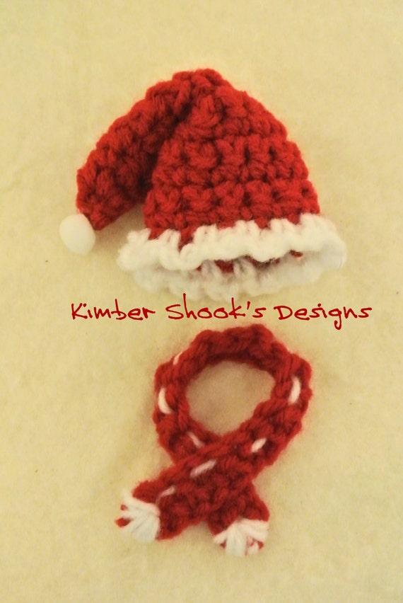 Santa Hat Scarf Wine Bottle Cozy Crochet Pattern