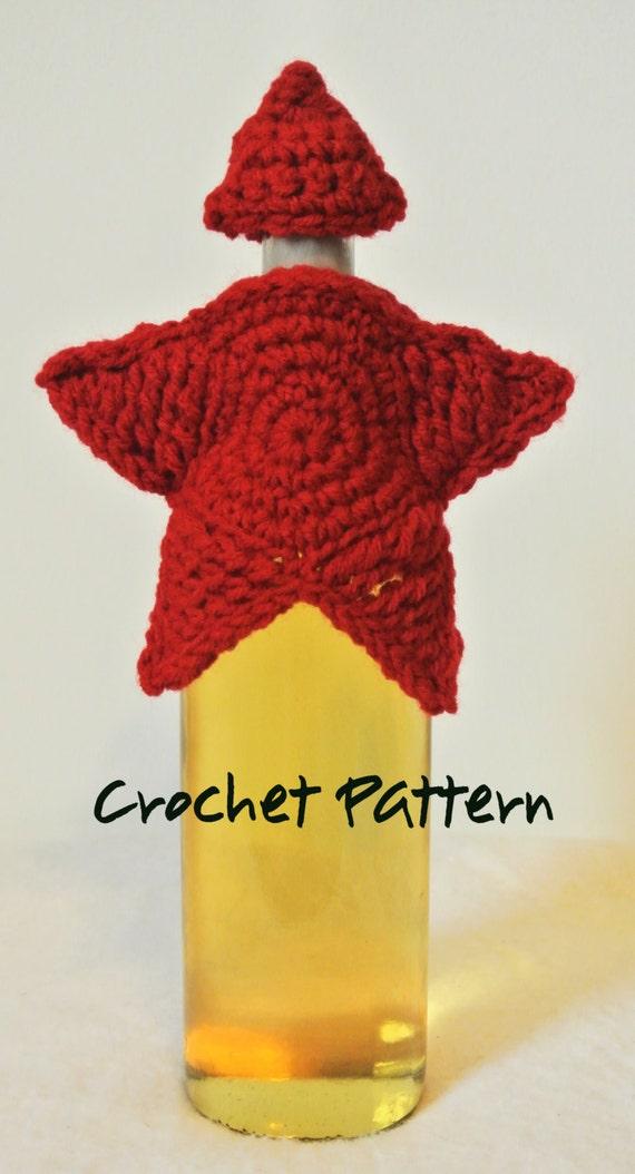 Star Wine Bottle Cozy Crochet Pattern Etsy