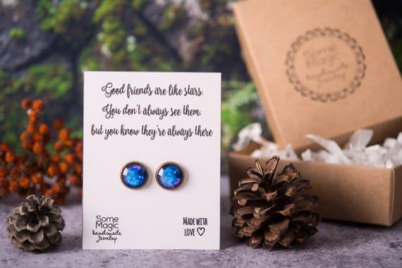 Space Earrings Best Friend Gift Meaningful For