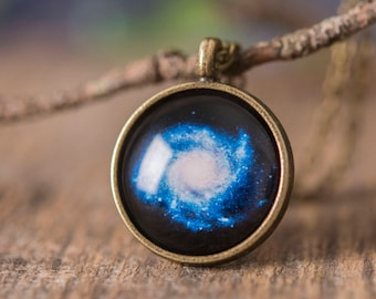 Space necklace, space jewelry, galaxy necklace, galaxy jewelry, gift for women, girlfriend gift, birthday gift for her, Christmas gift