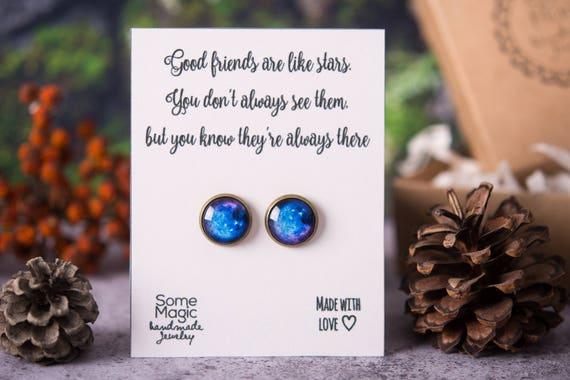 Space Earrings Best Friend Gift Meaningful For