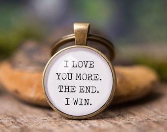 Boyfriend gift, girlfriend gift, gift for men, birthday gift for him, men gift, gift for her, car key chain, love gift, I love you more.