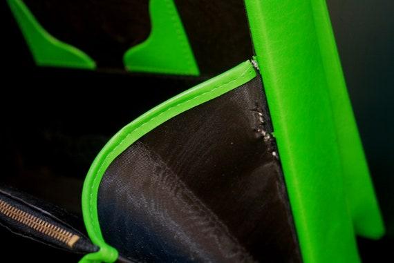 50s kelly green handbag, JOLLY label handbag,  vi… - image 8