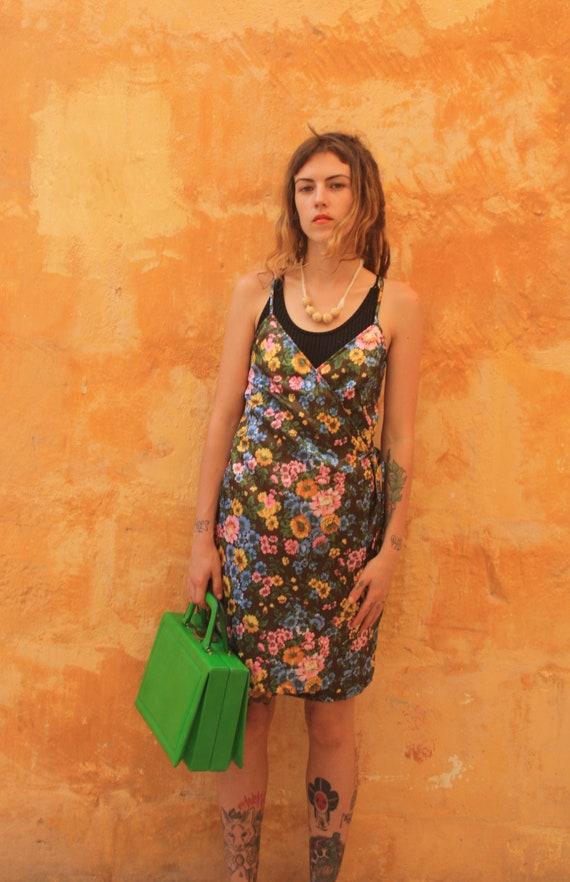 50s kelly green handbag, JOLLY label handbag,  vi… - image 2