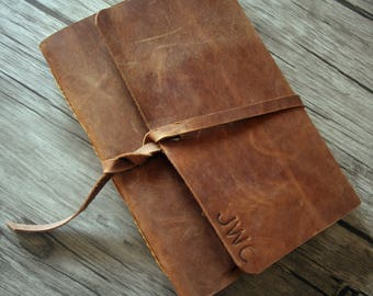 Personalized Leather Journal, Gift Sketchbook Journal, Diary Journal, Rustic Leather Notebook Covers Journal, Guestbook Unique Journal