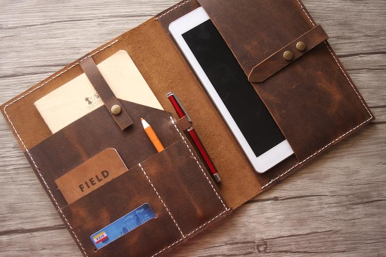 Distressed Leather iPad Pro Cover iPad Mini Sleeve  Pencil image 1