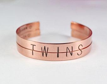Twins Bracelet Set Twin Sisters Bracelets Split Half Word Cuff Bangle Gift And Best Friend Jewelry