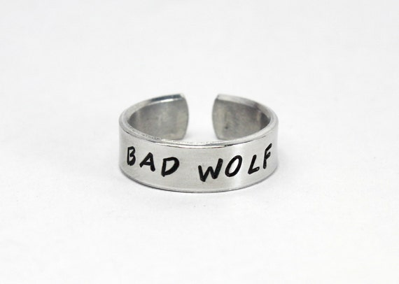 Adjustable Aluminum Wrap Ring Bad Wolf Doctor Who