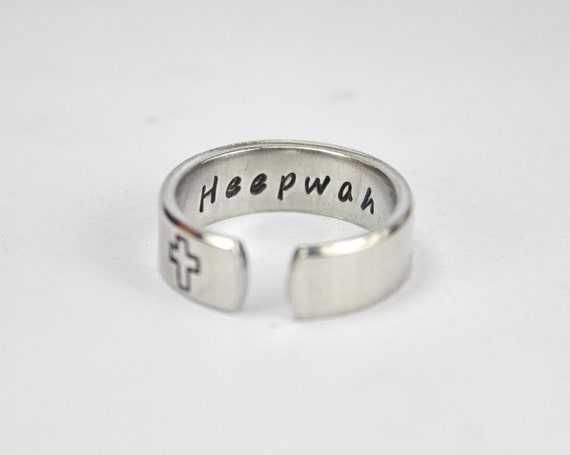 Items similar to Heepwah Ring, All Things Good Indian Word