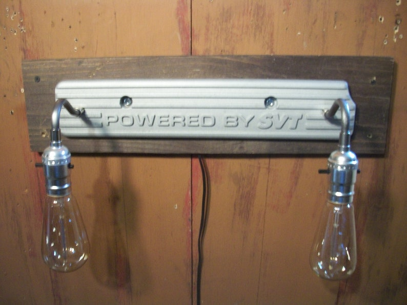 Shelby Cobra coil cover lamp shop light recycled car parts repurposed  automotive mustang svt