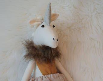 Unicorn Doll, unicorn, doll, handmade doll, handmade, unique, doll