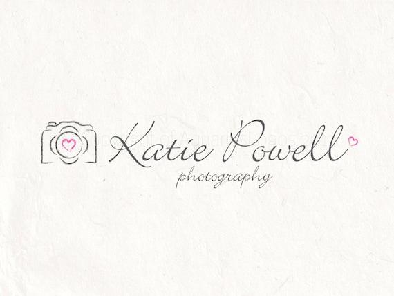 Photography logo design - photography Watermark logo camera logo - Instant  download DIY logo psd logo