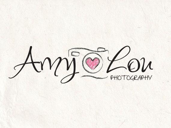 Photography logo - watermark logo camera logo design template  Digital  download DIY logo psd logo