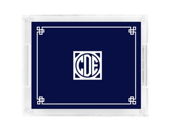 Lucite Tray.  Personalized Gift. Personalized Lucite Tray.  Monogrammed Tray. Gift.