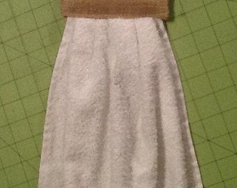 Burlap Hanging Towel