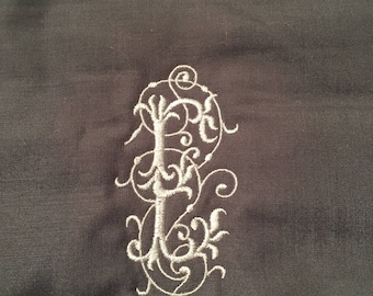 Elegant Initial Table Runner 14x78 Inches