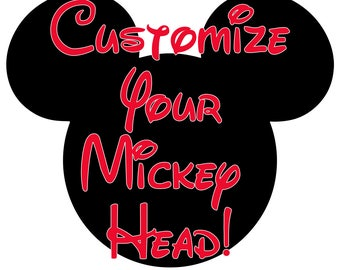 Customize Your Mickey Head