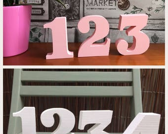 wooden freestanding table numbers -  wedding/party/birthday/events