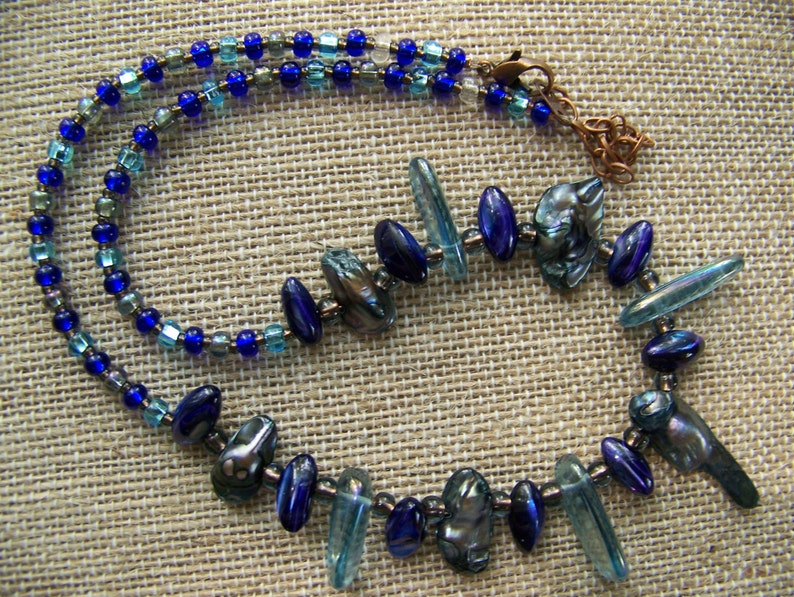 Freshwater Pearl Necklace  Tribal Fantasy Necklace  Jewelry image 0