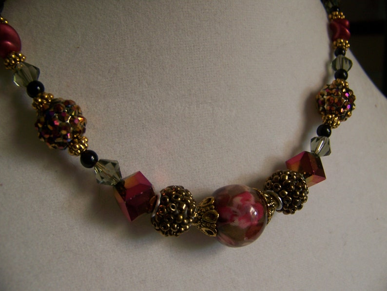 Floral Jewelry Dressy  Floral Necklace Pink  Flower Jewelry image 0