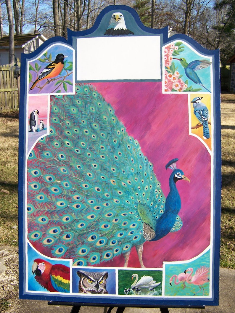 Custom Address Number Sign  Wall Decor Peacock  Outdoor image 0