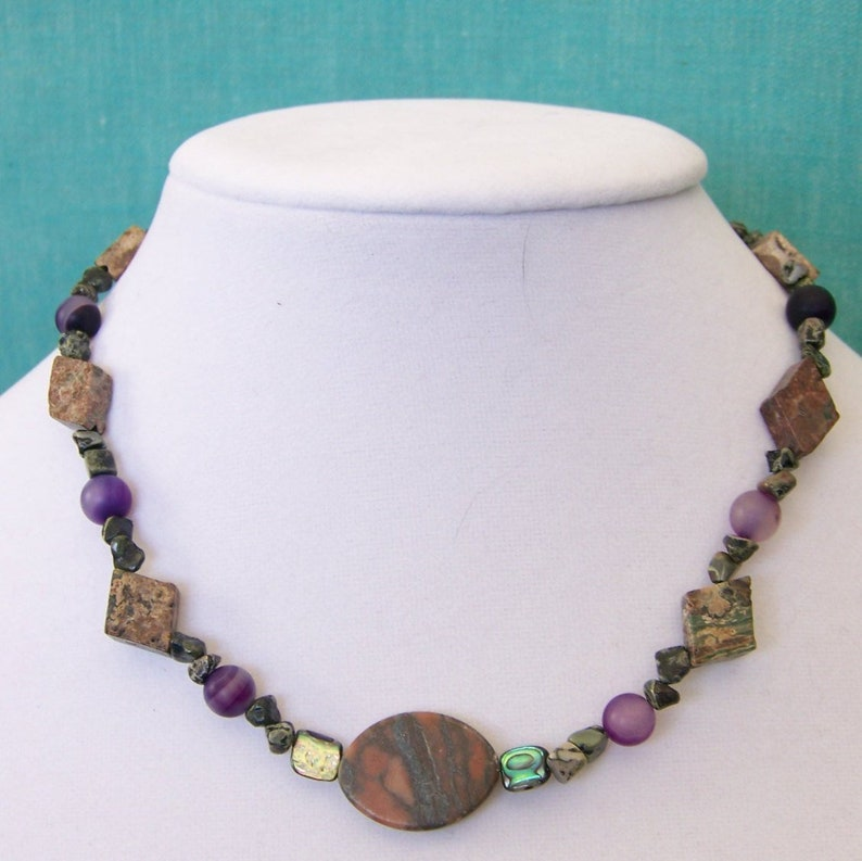 Natural Stone Necklace  Jewelry Non Metal  Jewelry Boho  image 0