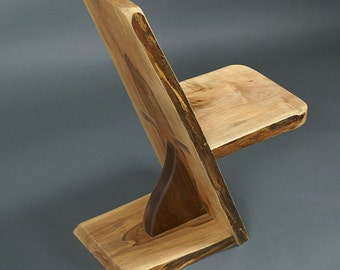 Spalted Maple with Black Walnut Chair