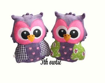 Embroidery machine ith design Owlie- softie- stuffie