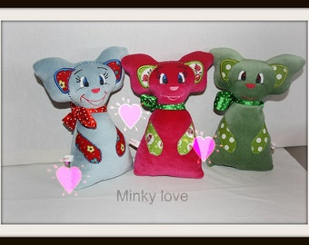 Digital embroidery file of MInky a soft doll