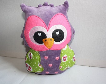 Embroidery design owl stuffie