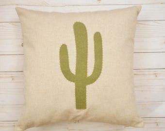 Cactus Pillow Cover, Green Cactus, Desert decor, Cactus, Southwestern Decor, Prickly cactus, Bohemian Decor, Western Pillow, Cactus Cushion