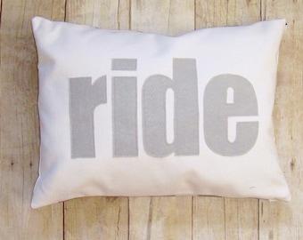 Horse riding pillow cover, equestrian throw, pillow cushion, horse lover gift, felt applique