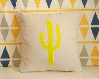 Decorative Cactus Throw Pillow Cover, Handmade Pillow Case