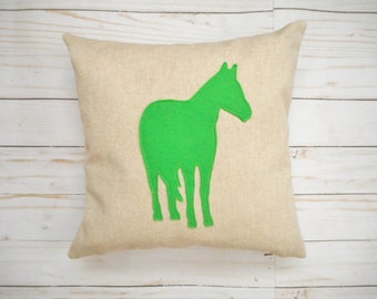 Custom Horse Pillow Cover - Equestrian Decor - Gift for Horse Lover