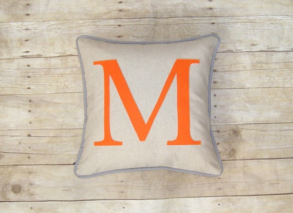 Personalized Pillow Cover Initial Pillow Wedding Gift Etsy Delectable Initial Pillow Covers