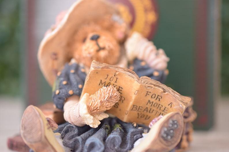Gift for Fashionista Vintage Boyds Bear Bear Figurine Resin Teddy Statue Prissy La Vogue Slave to Fashion