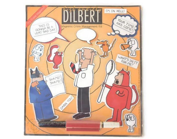 Dilbert Refrigerator Magnets Coworker Office Gag Gift Comic Etsy