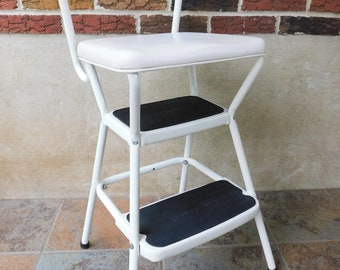 Swell Vintage Kitchen Stool Cosco Step Stool Folding Step Stool Etsy Squirreltailoven Fun Painted Chair Ideas Images Squirreltailovenorg