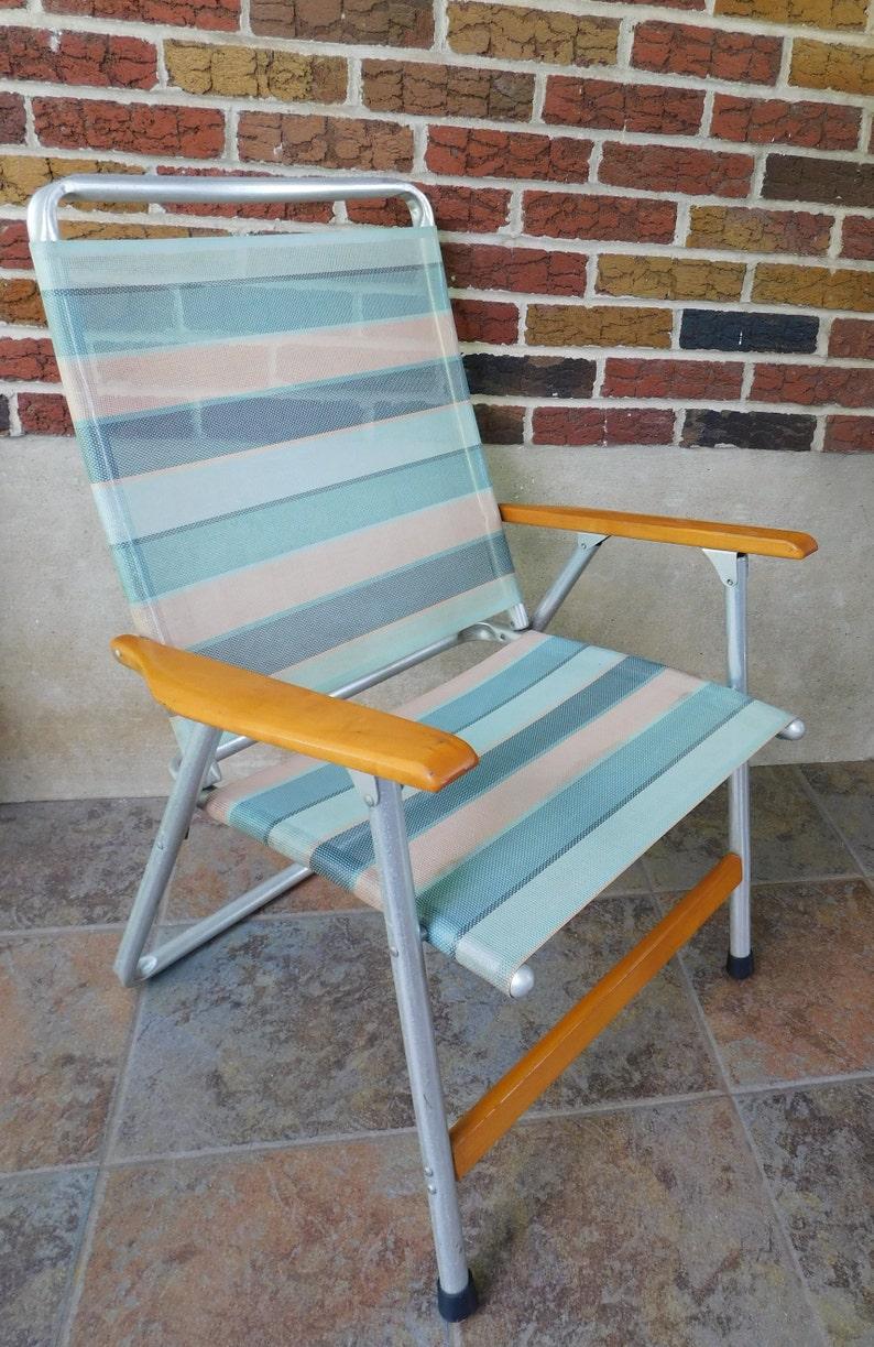 High Back Folding Lawn Chairs.Vintage High Back Folding Lawn Chair From Telescope Folding Furniture Telaweave Vinyl Mesh Arm Chair Striped Patio Chair