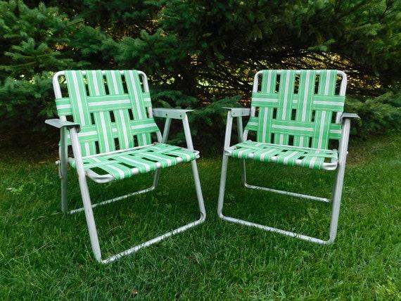 Fine Vintage Kids Folding Lawn Chair Childs Lawn Chair Aluminum Lawn Chair For Kids Green And White Retro Patio Chair Short Links Chair Design For Home Short Linksinfo