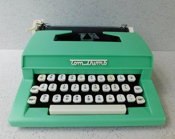 Mint Green Tom Thumb Vintage Toy Typewriter, Child's Typewriter, Western Stamping Corp., Collectible Toy, Display, Prop