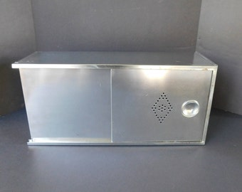 Vintage Hoosier Metal Bread Box, Bread Drawer, Drawer Liner, Sliding Door, Food Storage, Farmhouse Kitchen, Decor