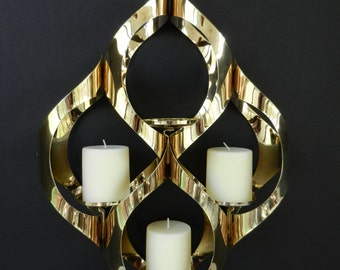 Mod Mascot Hanging Candle Holder, Geometric, Home Decor, Chandelier, Display, Gold