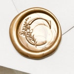 Wedding Initial wax seal STAMP - Personalized Wax Seal Stamp Wedding - Wedding wax seal - Flower Wax Seal Stamp - Wedding Initial wax seal