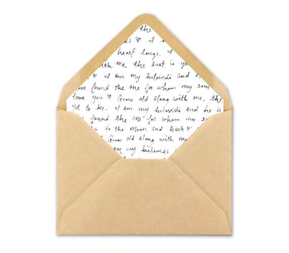 Envelope Liner Template | Wedding Envelope Liner Unique Envelope Liner Template A7 Etsy