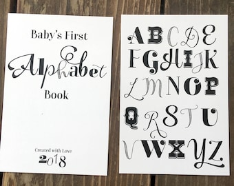 Diy alphabet book baby shower activity game baby book do it etsy instant download diy vintage alphabet book baby shower activity game do it yourself abc cards book baby shower activity download solutioingenieria